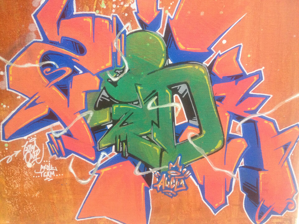 graffiti Kzed axdk Team