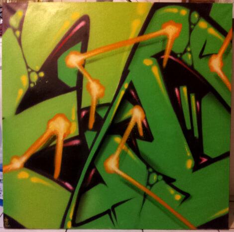 """kzed toile série """"ed"""" vert"""