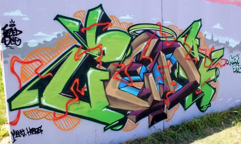 graffiti amiens kzed axdk graffiti vert