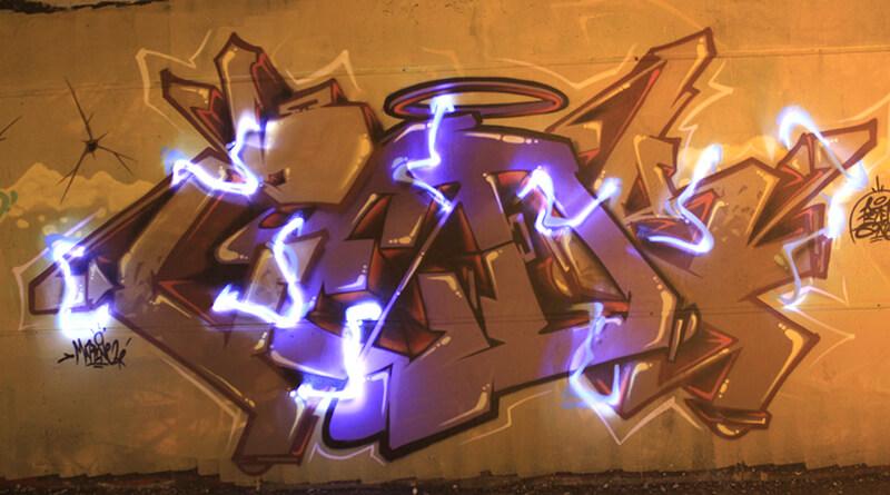 lightpainting de kzed - graffiti amiens