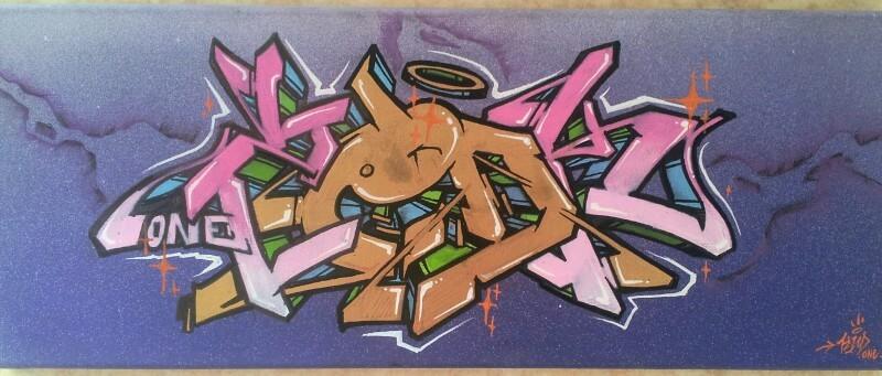PinkGolden - toile réalsée par Kzed Axdk
