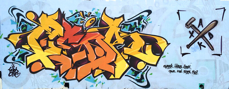 Peinture de kzed axdk Crew du 07/03/2015 à la Briqueterie à Amiens