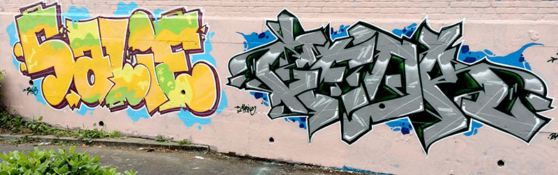 Kzed_amiens_graffitit_decoration_gris-vert_feat_salie