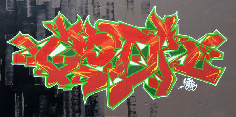 Kzed_amiens_graffitit_decoration_rouge-vert