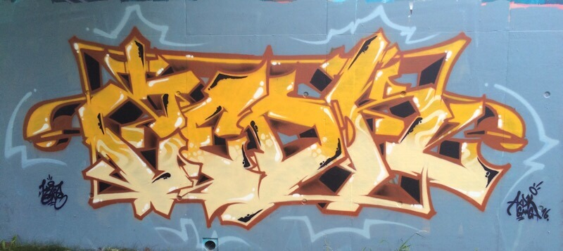 Graffiti réalisé par Kzed du Crew AXDK à amiens