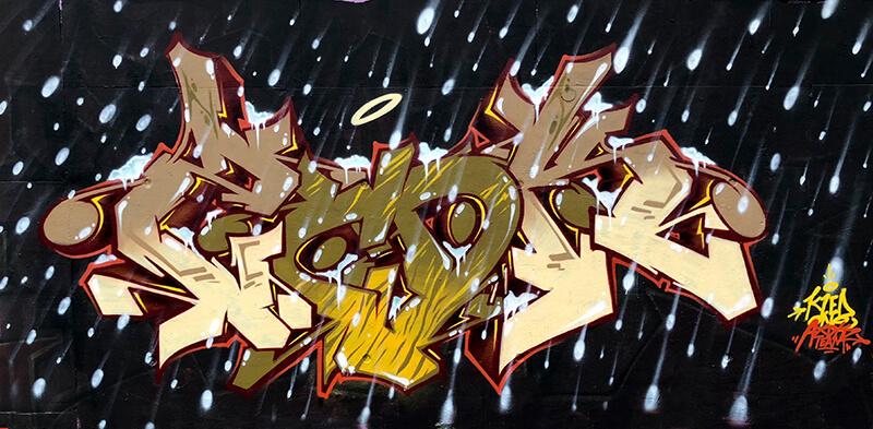 Snow Graffiti / kzed axdk team