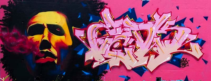 Peinture graffiti de kzed - Rasta
