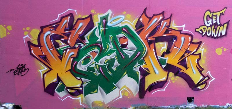 GetDown - Graffiti réalisé par Kzed - Amiens