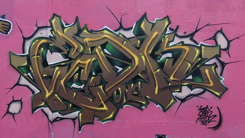 Peinture graffiti de kzed - ,titre : Brown