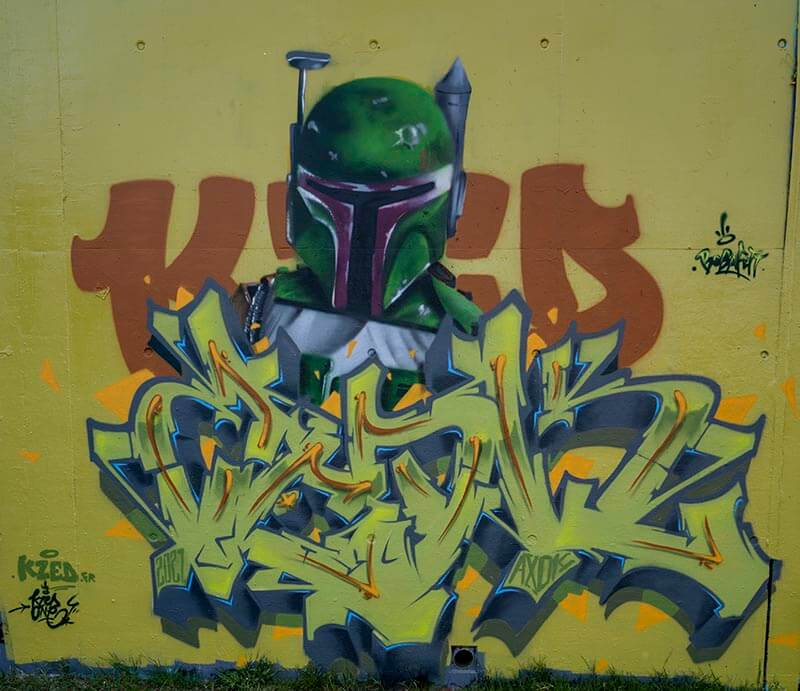 Kzed zedk graffiti amiens - Bobafett