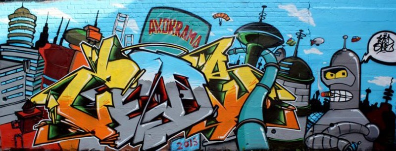 graffiti amiens decoration kzed axdk amiens graffiti theme futurama