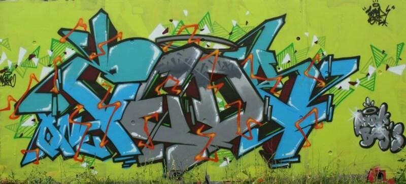 graffiti amiens kzed axdk amiens graffiti bleu et gris