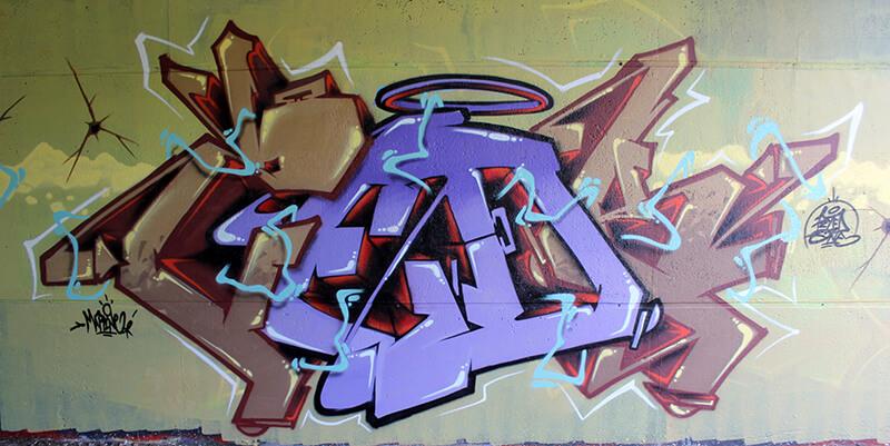 peinture graffiti amiens de kzed axdk du 07 septembre 2013