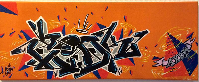 ©Kzed 2014 Orange & Yellow - mixed media Triangle série