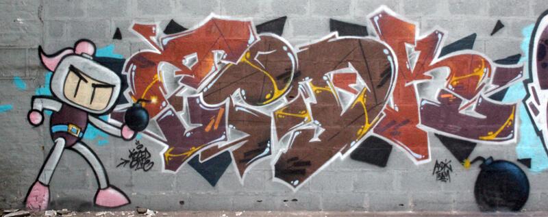 lettrage de kzed axdk - graffiti Amiens