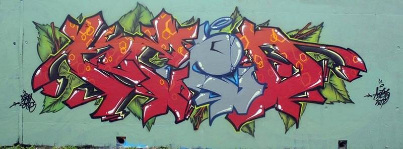 Kzed axdk graffiti graffeur amiens decoration