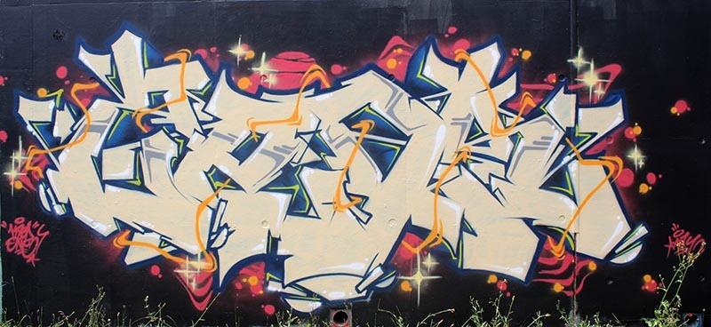 kzed axdk graffiti decoration amiens graffeur - Black BackGround