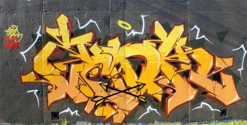 Graffiti de Kzed du crew AXDK - Amiens graffiti decoration