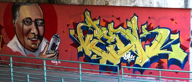 Lucky Strike - kzed-zedk-amiens-graffiti-decoration-streetart
